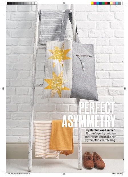 Simply Sewing Issue 63 - Star Tote Pattern