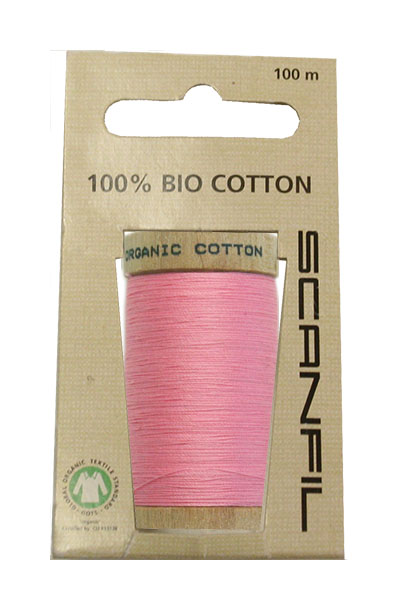 Scanfil Organic Thread 100 Metre Hang-sell - Pink