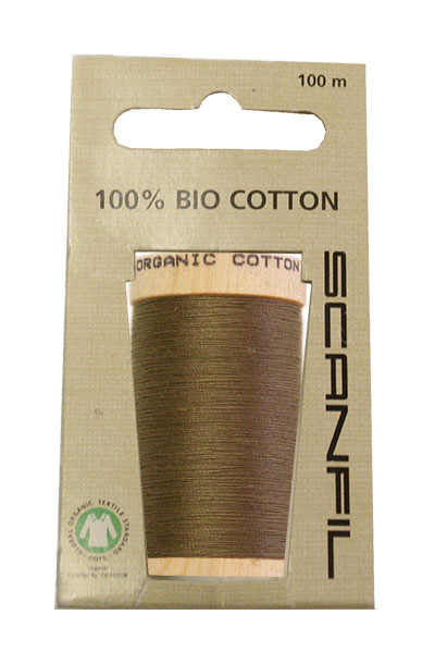 Scanfil Organic Thread 100 Metre Hang-sell - Khaki