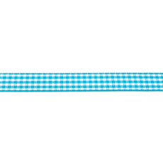 Aqua Gingham Ribbon - 10mm X 47.5m