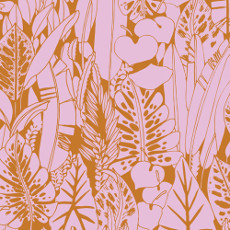 Birds Eye View Foliage Orange - Cloud 9 Quilters Weight Fabric 44in/45in Per Metre
