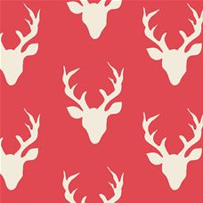 Hello Bear Buck Forest Carmine - Art Gallery Fabric 44in/45in Per Metre