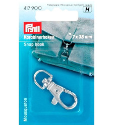 Prym Snap Hook 7x38mm Silver Col