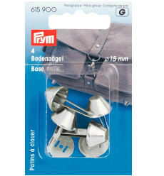 Prym Base Nails For Bags Silver Col 15mm 4pcs