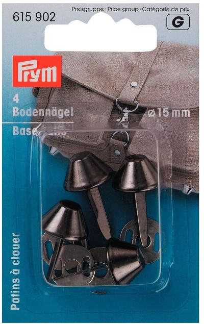 Prym Base Nails For Bags Antique Silver 15mm 4pcs