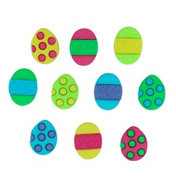 Painted Eggs - Easter Button Pack
