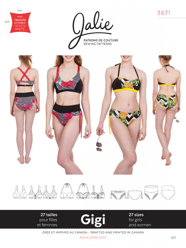 Gigi Bikinis Pattern - Jalie Patterns