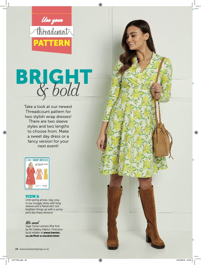 Love Sewing Issue 77 - Bright and Bold Wrap Dress