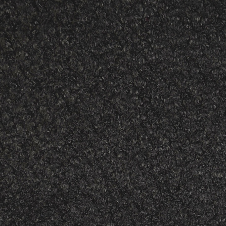 Black Wool Blend Boucle Coat Fabric