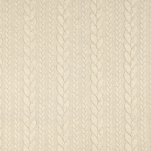 Barso Oatmeal Heathered Cable Jacquard Knit Fabric