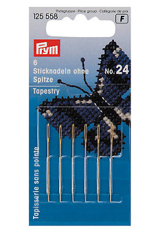 Prym Embroidery Needles Tapestry Blunt Point No.24 With Gold Eye 6pcs