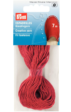 Espadrille Red Creative Yarn, 7m, 100% Cotton