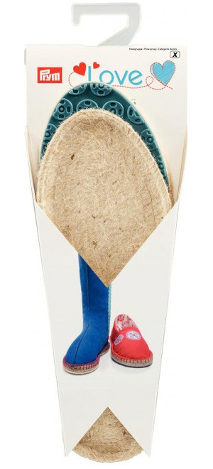 Espadrille Sole (Blue) Child Size 26/27, UK8.5/9.5, 1 Pair, Rubber/Jute