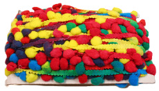 Rainbow Colours Mulicolour Pom Pom Trim - 24mm X 20m