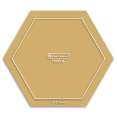 1/4in Hexagons Acrylic Template With 3/8 Seam - Paper Piecing