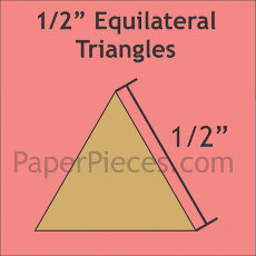 0.5 Inch Equilateral Triangles 200 Pieces - Paper Piecing