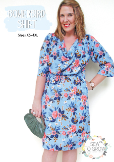 Bowerbird Shift Dress Pattern By Sew to Grow