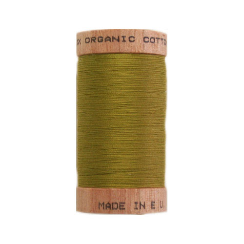 Scanfil Organic Thread 100 Metre Spool - Chartreuse