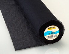 Vilene Woven Interlining Medium Weight - Fusible 90cm X 25m - Black