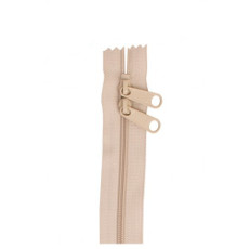 Double Slide Bag Zipper 30in Natural