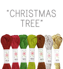 Christmas Tree - Sublime Floss Selection Pack - 7pcs