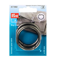 Prym Bag Ring 35mm Antique Silver 2pcs