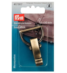 Prym Snap Hook 30 X 50mm Antique Brass Brushed