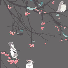 Blithe Bird Songs Moon Voile - Art Gallery Fabric 52in/53in Per Metre