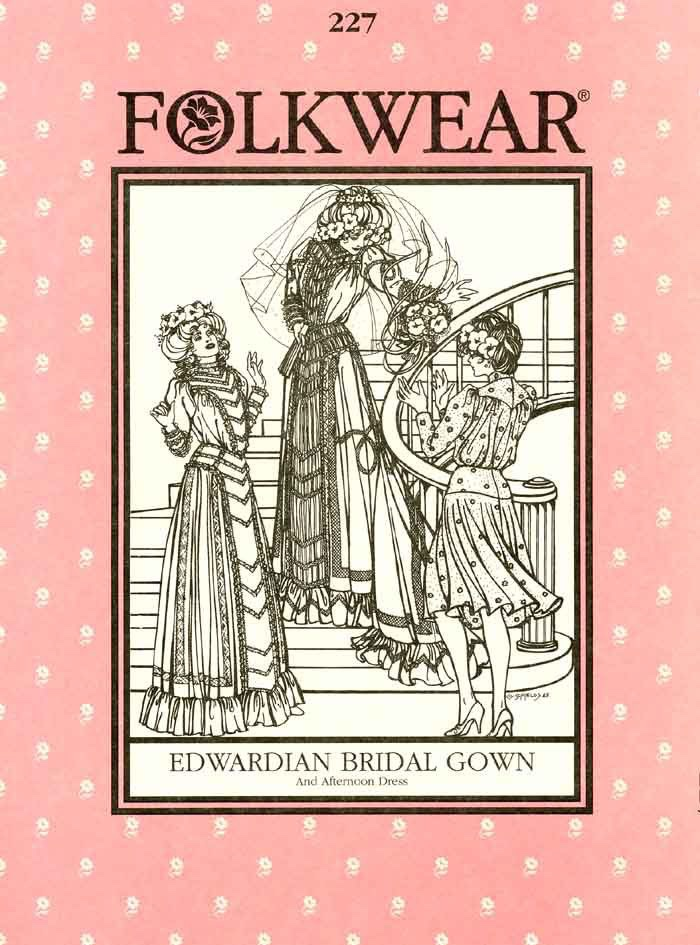 Edwardian Bridal Gown Pattern by Folkwear