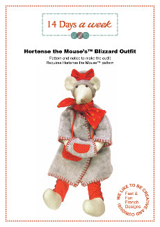 Hortense The Mouse Blizzard Outfit - 14 Days A Week Felt Pattern