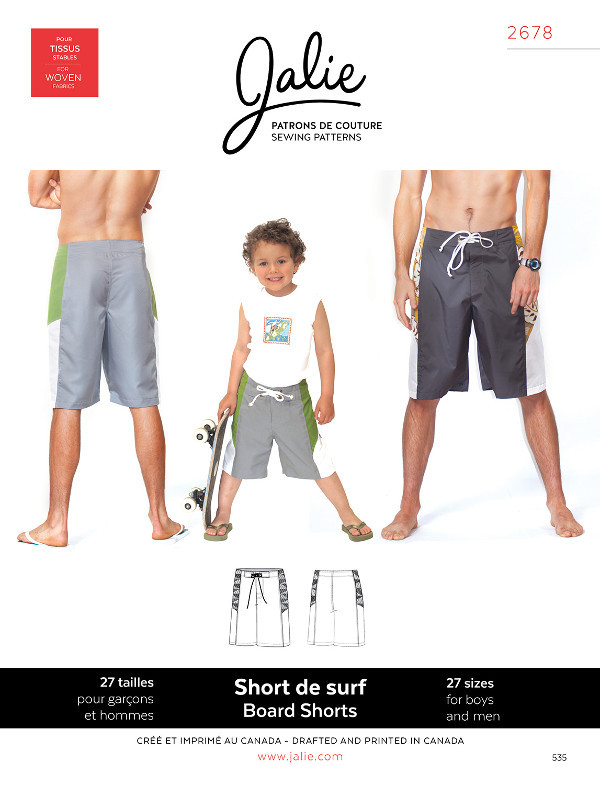 Board Shorts - Jalie Patterns