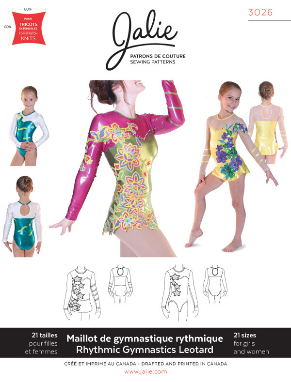 Rhythmic Gymnastics Leotard - Jalie Patterns