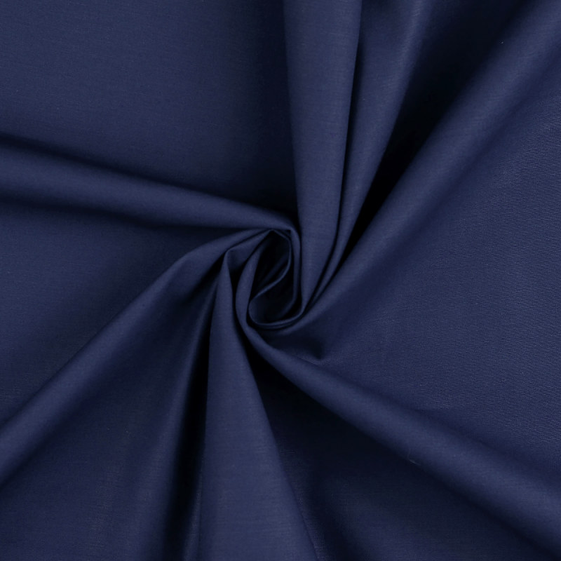 Attica Navy Cotton Stretch Twill Fabric