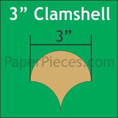 3 Inch Clamshells 30 Pieces - Paper Piecing