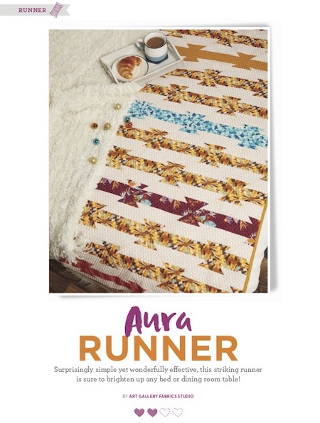 Quilt Now Issue 69 - Aura Runner