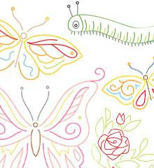 Butterfly Garden - Sublime Embroidery Transfer