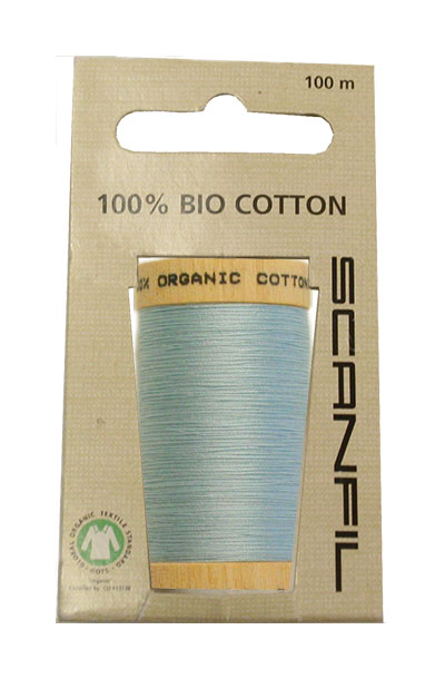 Scanfil Organic Thread 100 Metre Hang-sell - Sky Blue