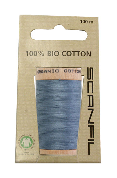 Scanfil Organic Thread 100 Metre Hang-sell - Petrol Blue