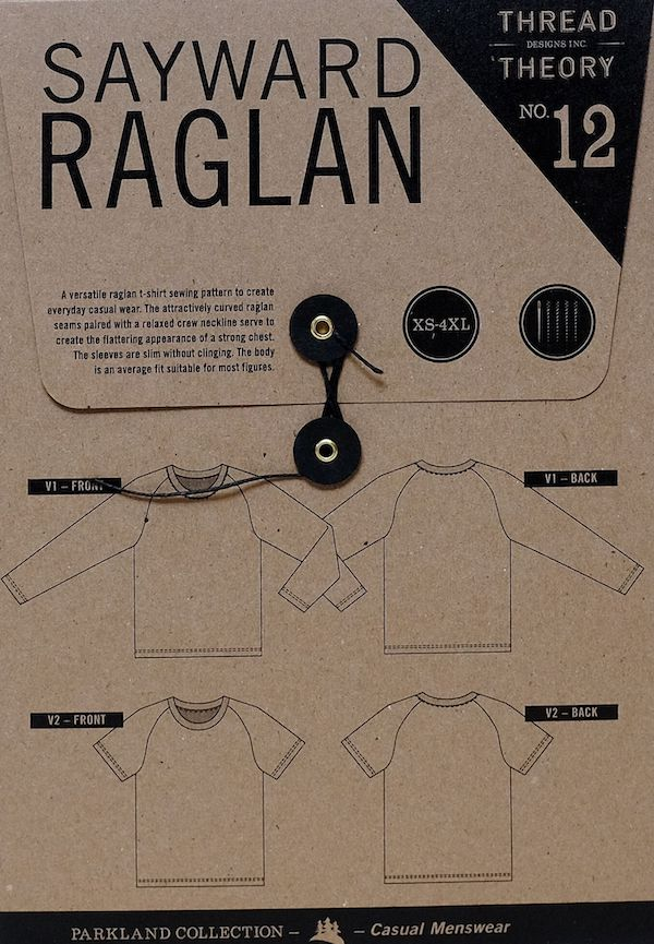 Sayward Raglan Tee Shirt Pattern - By Thread Theory Designs