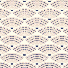 Underwater She Sells Seashells Warm White - Cloud 9 Quilters Weight Fabric 44in/45in Per Metre
