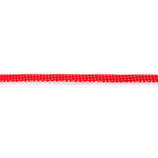 Red Spotted Crochet-edged Poplin Bias Binding Double Fold - 15mm X 25m