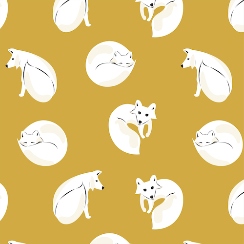 Winter Fox - Dark Gold Flannel From Northerly By Cloud9 Fabrics
