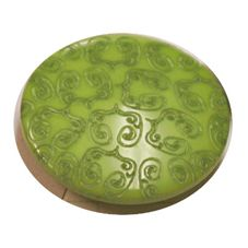 Acrylic Shank Button Embossed 20mm Apple Green