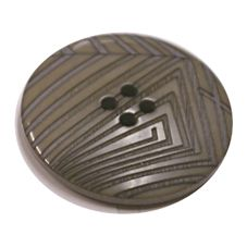 Acrylic Button 4 Hole Deep Ridged 30.5mm Taupe