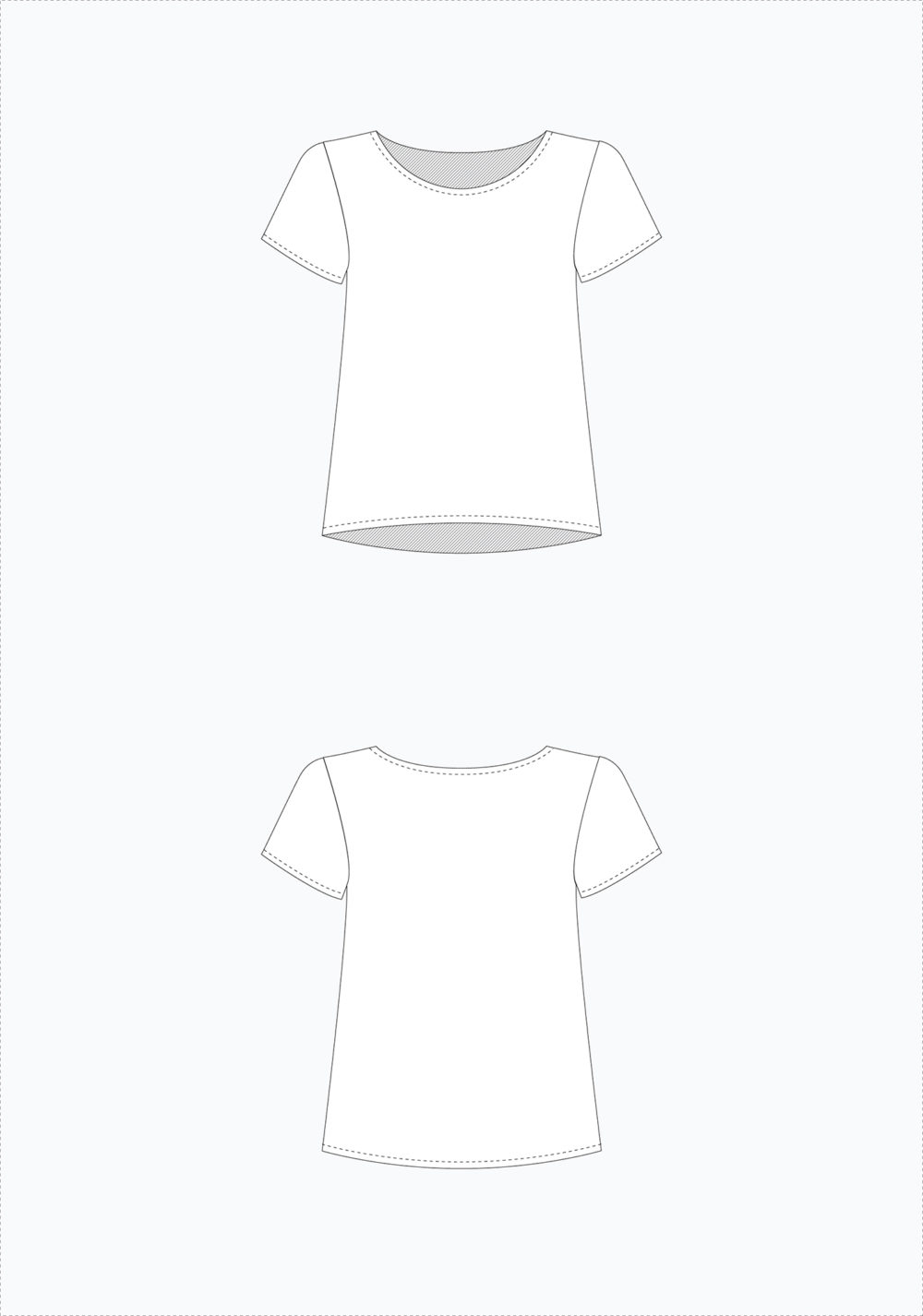 Scout Tee Pattern By Grainline Studio