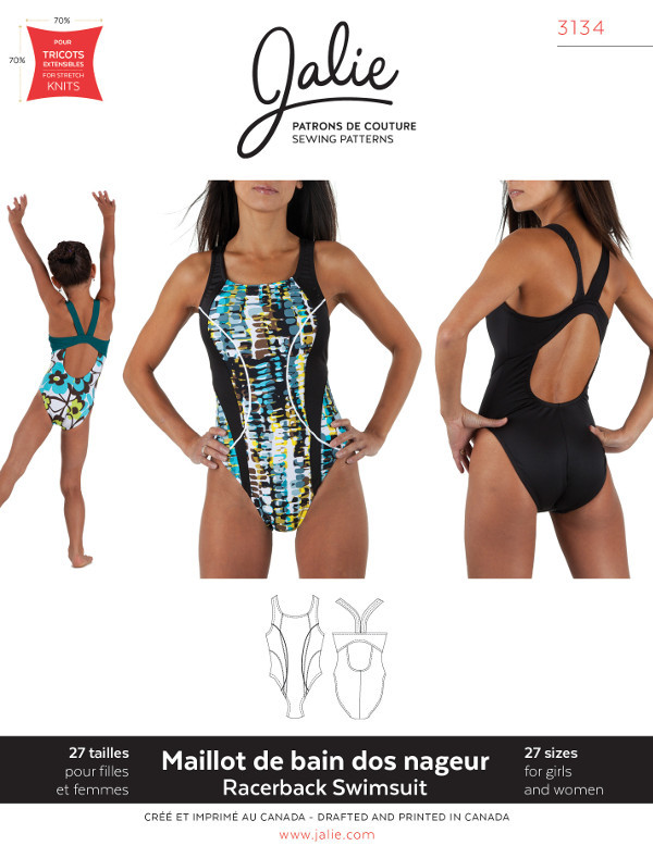 Womens Racerback Swimsuit Pattern - Jalie Patterns
