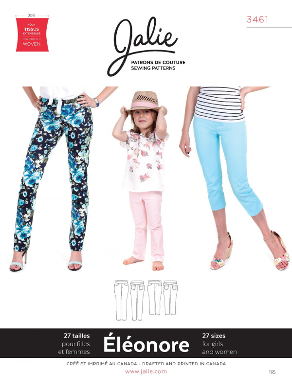 Eleonore Pull On Jeans Pattern - Jalie Patterns