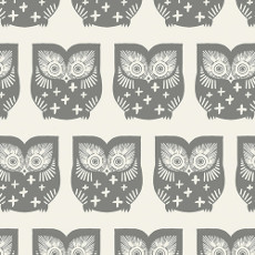 Heartland Hus Hoot Gra Knit - Art Gallery Fabric 58in/60in Per Metre