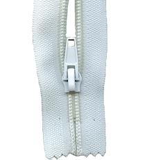Make A Zipper Heavy Duty - 108in Long With 12 Zipper Pulls - White