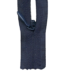Make A Zipper Invisible 162in Long With 12 Zipper Pulls - Navy